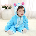 2017 New Cute Animal Modeling Flannel Romper Winter Warm Baby Clothes Long Sleeve Hooded Infant Bodysuits