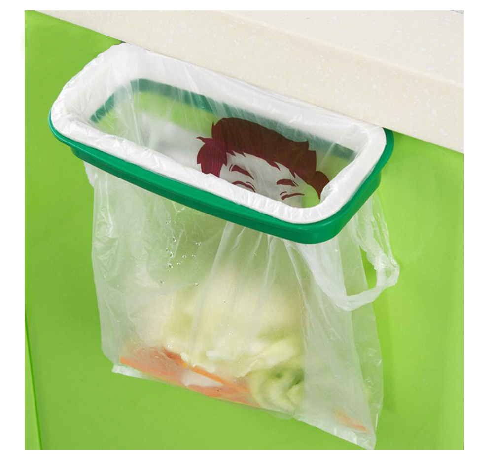 Rubbish storage rack Stand trash bag clip Trash can Papelera Poubelle de cuisine Hanging kitchen cupboard door back Garbage pail(China (Mainland))