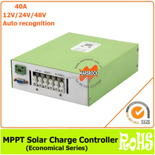 Ecnomical 40A 12V/24V/48V automatic recognition MPPT solar charge controller with RS232 communication port(China (Mainland))