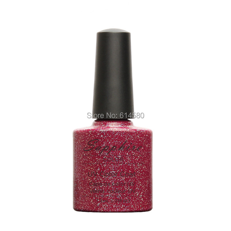 Sapphire 7.3ML 020 Silver Cold Red Color UV Gel Nail Polish 14 Days Long Lasting 80 Gorgeous Colors for Nail Gel(China (Mainland))