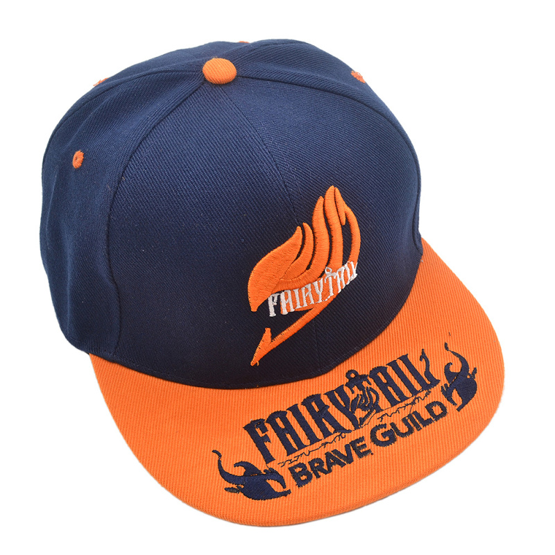 1 piece Japan Anime Fairy Tail Logo Embroidery Baseball Hat Sport Snapback Hat Anime Cosplay Cap(China (Mainland))