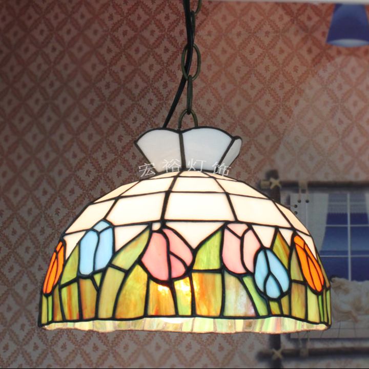 European minimalist dining room pendant lamp bedroom lamp study aisle balcony cafe tea shop Tiffany Lighting(China (Mainland))