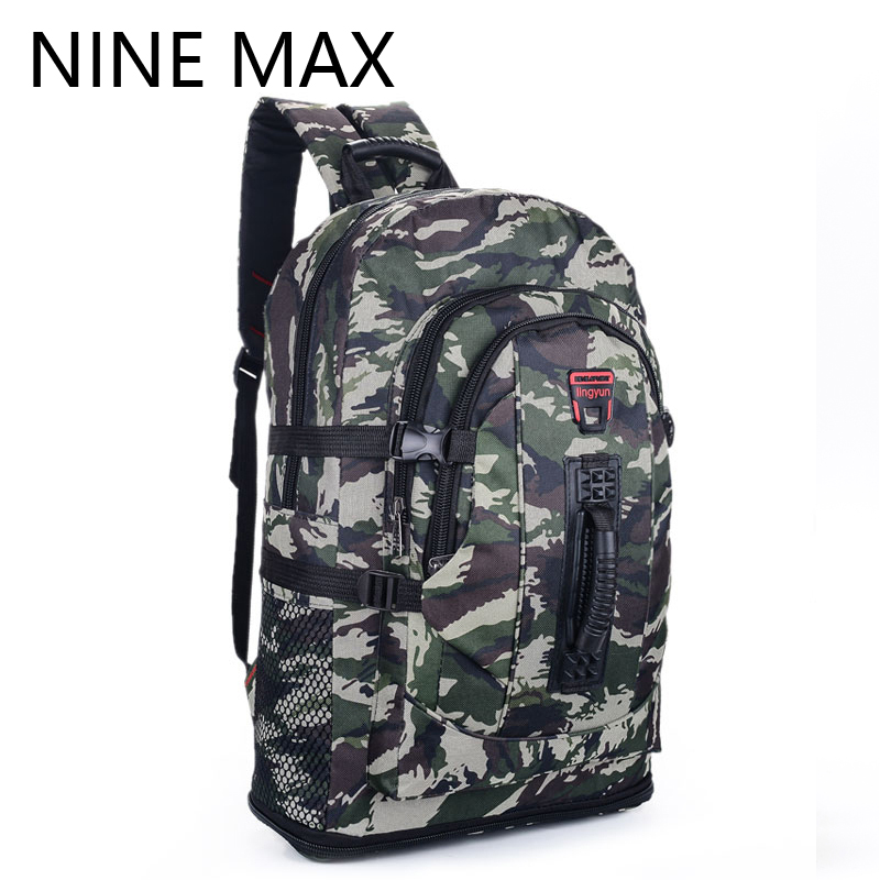2016 Green Gray Camo Hunting Backpack for Men Male Camo Camping Backpack outdoor Rucksack 35L Large Hiking Knapsack Wholesale(China (Mainland))