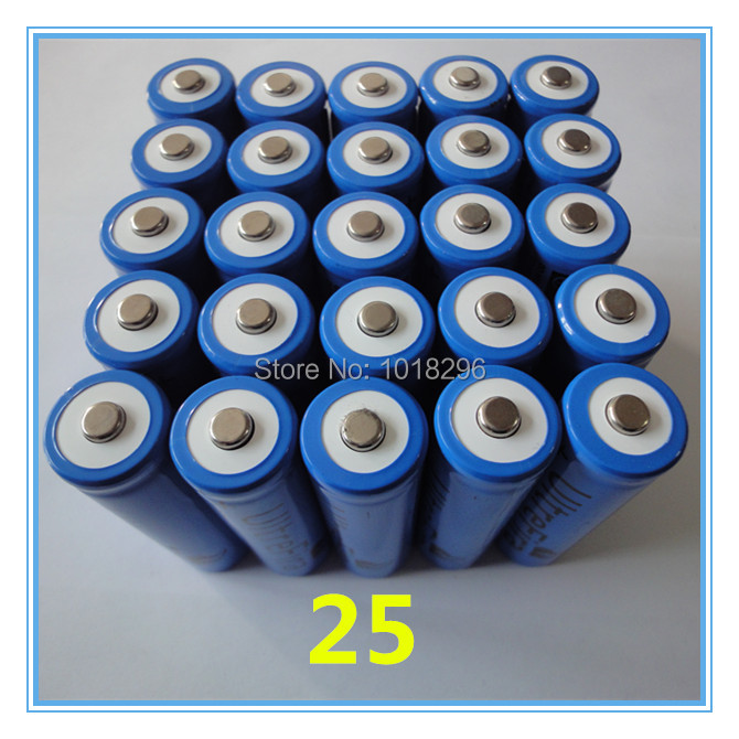 25PCS x New arrival 3.7V 5000mAh 18650 protected rechargeable li-ion lithium battery Hot<br><br>Aliexpress