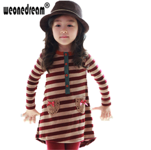 Buy WEONEDREAM New Spring Autumn Children Girls Clothing Sets Striped Clothes Bow Tops T Shirt Leggings Pants Baby Kids 2 Pcs Suit for $14.60 in AliExpress store