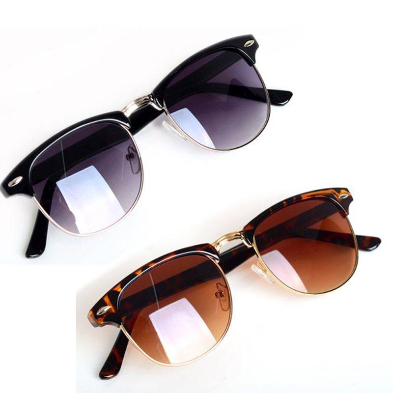 Горячая мода очки классический ретро солнцезащитные очки женщин модной мужчины солнцезащитные очки 2 цвета óculos - де-сол feminino