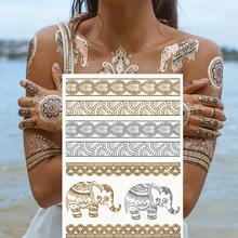 The new fashion sexy # – 033 The elephant pattern of temporary tattoos High quality flash tattoos Body art tattoo style