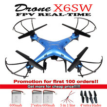 X6SW Remote Control Drone WIFI Fpv Camera RC Helicopter drone quadcopter gopro professional drones (syma x5sw upgrated version)