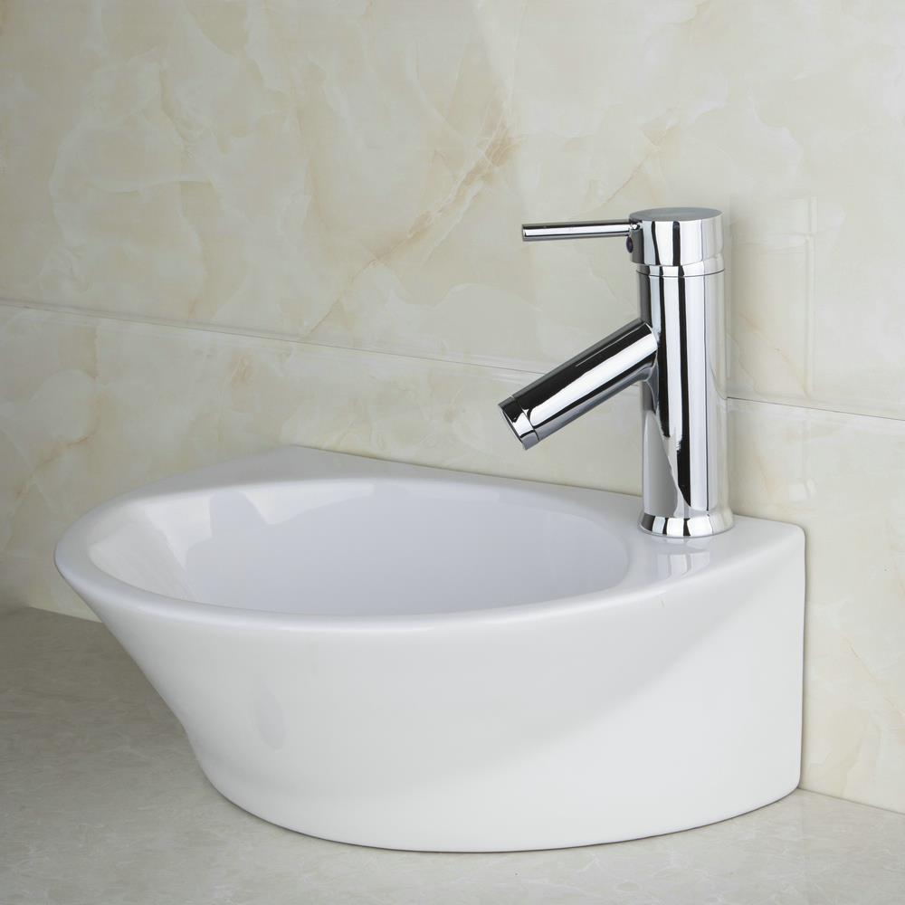 Shivers bathroom ceramic sink wash basin set countertop for High quality kitchen sinks