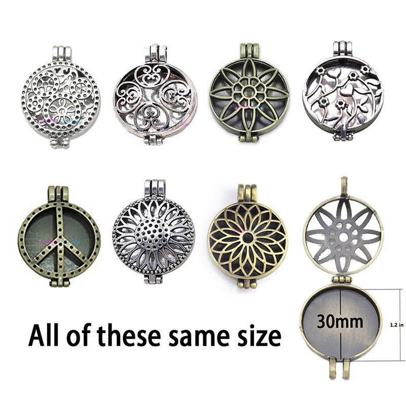 Necklace- UNISEX Aroma Diffuser Necklace Antique Vintage Lockets, Pendant Perfume Essential Oil Aromatherapy Locket Necklace With Pads