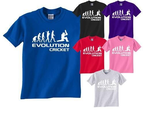 Cricket/Cricketer ~ Evolution Of~Mens/Ladies/Adult T-Shirt More Size and Colors()