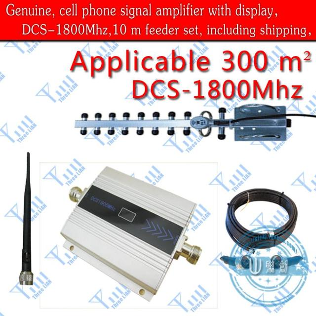 wholesale promotion DCS 1800Mhz Mobile Cell Phone Signal Repeater Booster  Amplifier Receivers (10 m cable + Yagi antenna)