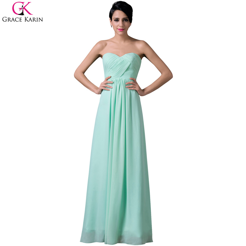 Cheap grace karin pale turquoise strapless sleeveless long for Cheap formal dresses for wedding guests