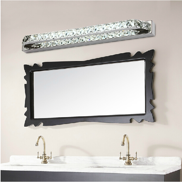 Wall Mirror Lamps : Aliexpress.com : Buy 10w chrysophoron wall sconce Stainless steel+metal+crystal mirror light ...