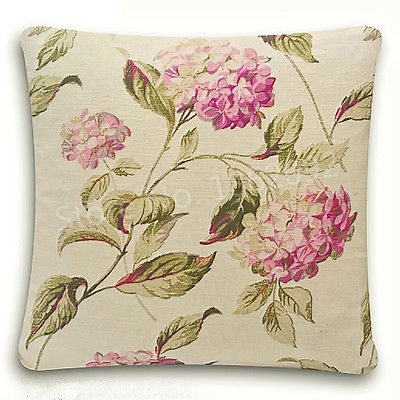 New shabby chic cushion cover laura ashley hydrangea pink - Telas laura ashley ...