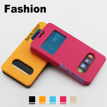 Innos D6000 Cases Cover PU Leather 5.2 inch Case For Innos D6000 case Universal 2 Window Flip Stent Cover
