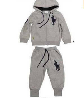 Wholesale 2pcs/set Kids Baby kids Polo Suit Boys Girls clothes Long Sleeve Sport coats + Pant Sport Hoodies Children Clothing()
