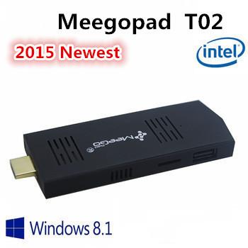 MEEGOPAD T02 Mini PC Windows 8.1 or UBUNTU OS mini Compute Stick Quad-Core Intel Atom Z3735F HDMI TV 32GB Version 2GB RAM(China (Mainland))