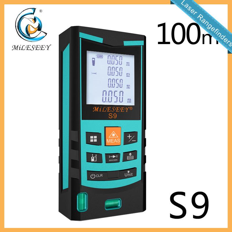 Mileseey S9 Handheld Rangefinder Laser Distance Meter  Digital  Laser Range Finder Laser Tape Measure  100M