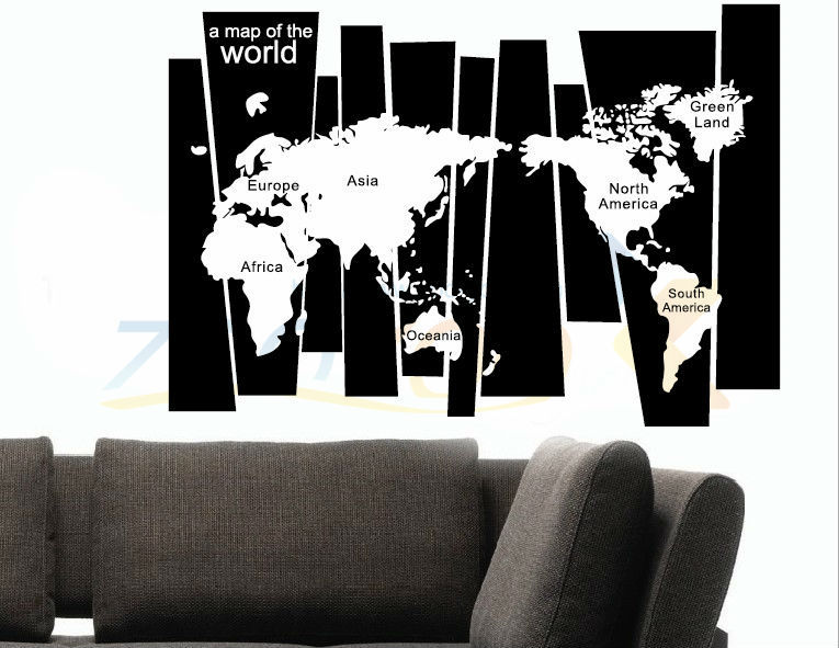 8120* Hot 105*75cm World map 3Dstickers office living room wall decoration adesivo removable