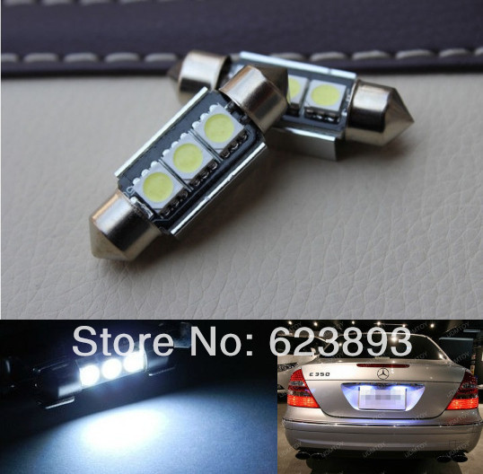 Free shipping,2x super bright License plate Light No Error 6 SMD LED Volvo S40 S60 S80 V50 V70 C30 C70 XC90 70(China (Mainland))