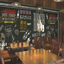 Free Shipping 3D Beef steak barbecue restaurant Hot pot coffee house tea shop dining room wood mural wallpaper(China (Mainland))