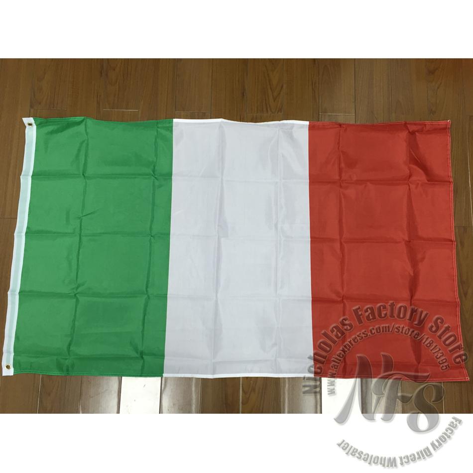 90x150 cm Grand Italie Drapeau 100% Polyester Drapeau National Italie Suspendus et Vol Italien Drapeau Bannière avec Oeillets Décor à la maison(China (Mainland))