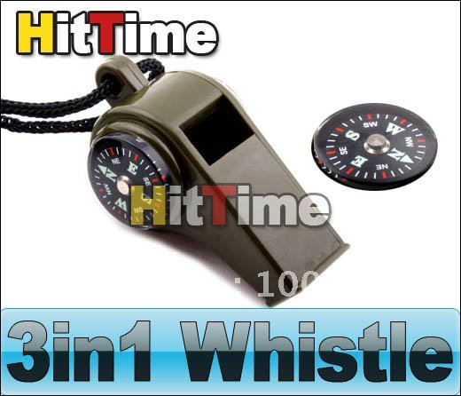 3in1 Thermometer Compass Whistle Survival Camping Scout [762|01|01](China (Mainland))