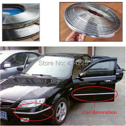 6MM 8MM 10MM 12MM 15MM 18MM 20MM 25MM 30MM x 3Meter UNIVERSAL CHROME MOULDING TRIM Auto Car WINDOW Rubbing strips(China (Mainland))