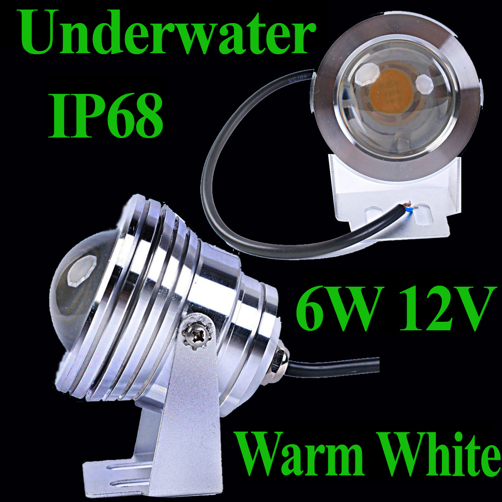Portable Swimming Pool Water Stage Waterfall Underwater Lamp Led Light Ip68 Warm White Led