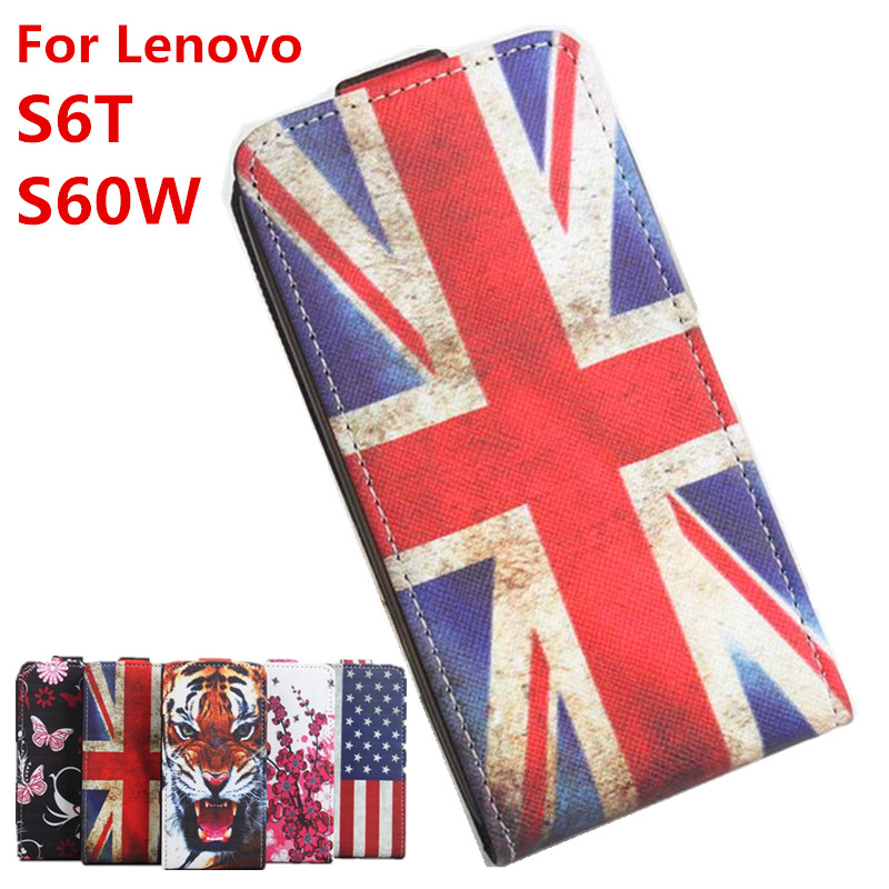100% High Quality Leather Case For Lenovo S60 Flip Cover Case housing For Lenovo S60 W / S60 T Leather Cover Mobile Phone Cases(China (Mainland))