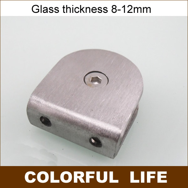 Stainless steel 0-degree glass clamp, shower retaining clip,partition,Glass needs holes bathroom accessories(China (Mainland))