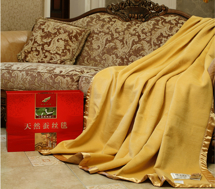 Luxury Advanced 100% mulberry silk blanket thickening summer spring autumn beauty skin care CHINA SILK(China (Mainland))
