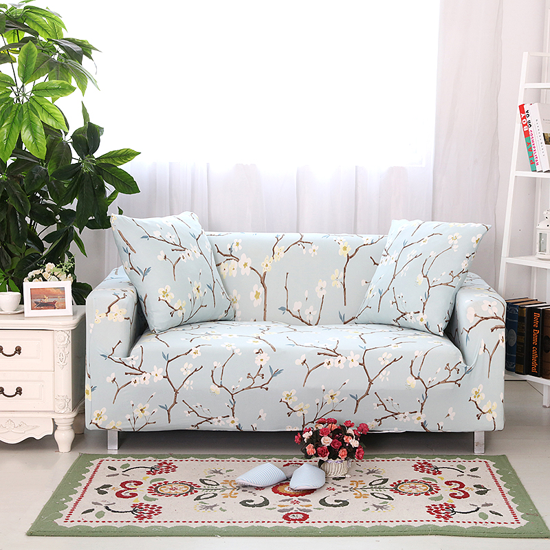 blue floral sectional sofa covers elastic sofa slipcover