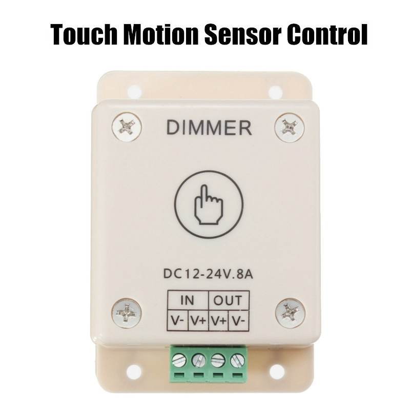 DC12V-24V 8A White Dimmable LED Dimmer Switch Brightness Touch Motion Sensor Control For LED Strip Light(China (Mainland))