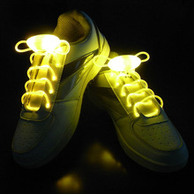 Free ShippingParty Skating Charming LED Flash Light Up Glow Shoelaces Shoe Laces Shoestrings(China (Mainland))