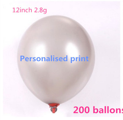 200pcs 12inch 2.8g personalized ballons balloon for birthday wedding Christmas balloon printed(China (Mainland))