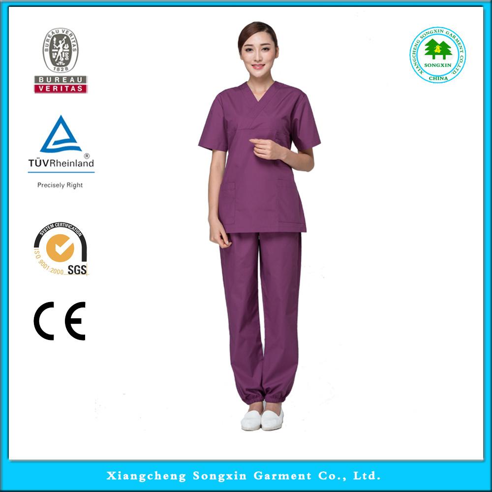 2015 OEM nursing uniforms scrubs medical scrub sets hospital scrub set medical nursing doctor scrub set uniform(China (Mainland))