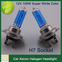 Buy 2pcs/lot 100W H7 Car Headlights XENON HALOGEN BULB Headlamp 4300K 12V Lamp Super White Night Light Car Styling Headlight Bulbs for $2.74 in AliExpress store