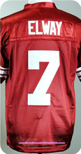 Mens College Jersey Andrew Luck#12 Christian McCaffrey#5 John Elway#7 Red White Black(China (Mainland))
