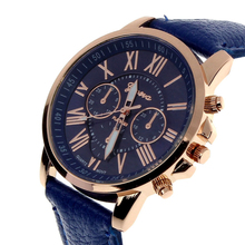 2015 New Fashion Ladies Watches Roman Numerals Faux Leather Women Watch Analog Quartz Watches Women Men Casual Hours Wrist Watch