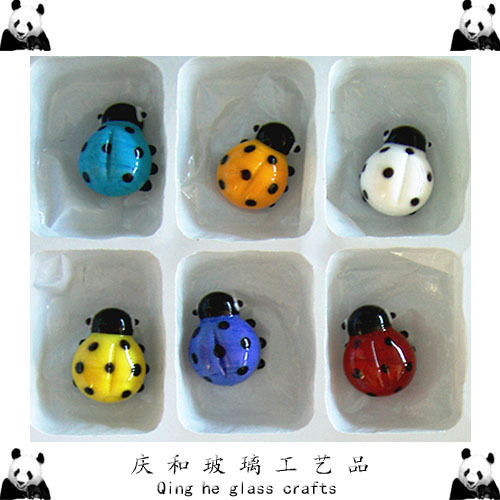 Cute!!6 styles coloured Insects beetle glass marbles decoration marble/glass ball ornament christmas/birthday gift(China (Mainland))