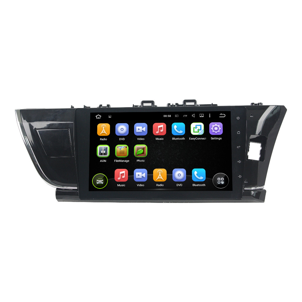 Quad Core 10.1″ Android 5.1 Car Radio DVD GPS for Toyota Corolla 2014 2015 Right hand drive With 3G WIFI Bluetooth USB 16GB ROM
