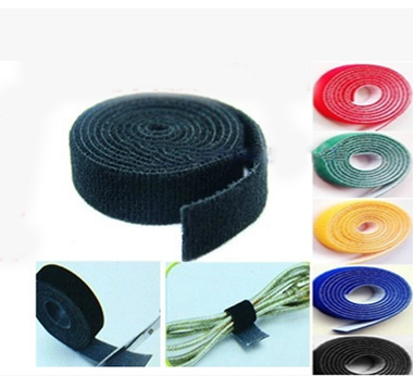 25Meters/Roll 10MM Velcro Strap Nylon Self Attaching 2 Face Velcro Hook & Loop Tape Fastener For Wire Cable 7-043(China (Mainland))