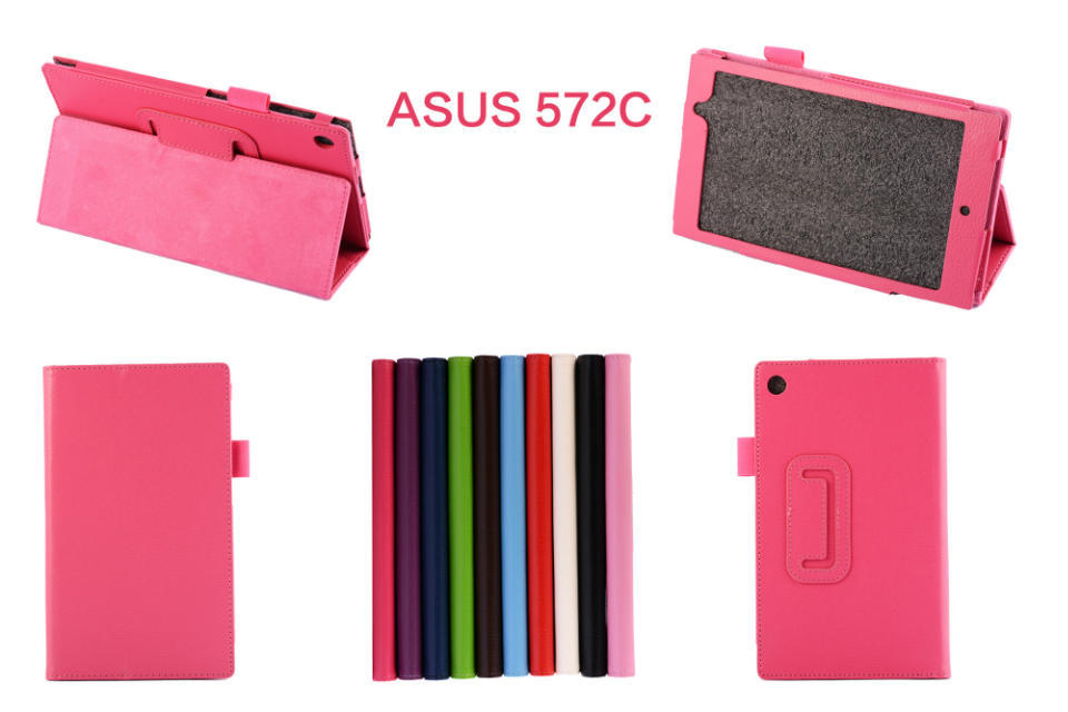 Lichee Leather Stand Case for ASUS MeMO Pad 7 ME572CL,PU Folio Book Cover For ASUS ME572C 7 inch free shipping(China (Mainland))