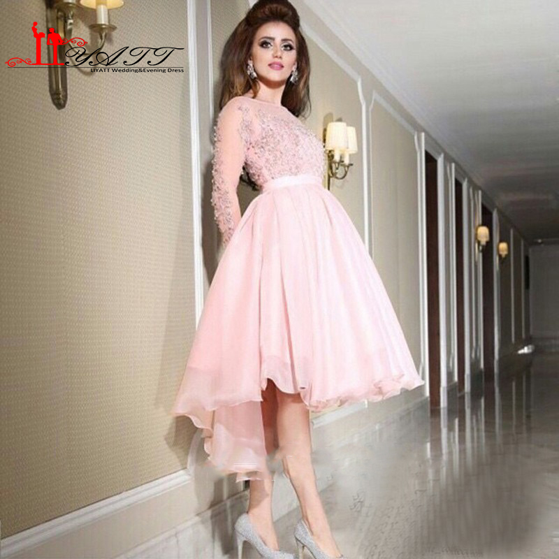 Online Buy Wholesale light pink prom dress long sleeve from China ...