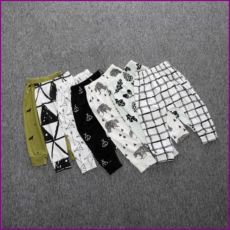 0-4Y Kids Fashion Autumn Baby Arrow Panda Harem Pants Boys Girls 100%Cotton Leggings Boy's Trousers Clothes(China (Mainland))