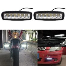 Waterproof 2pc 18W Flood LED Light Work Bar Lamp Driving Fog Offroad SUV 4WD Car Truck Sports Light(China (Mainland))