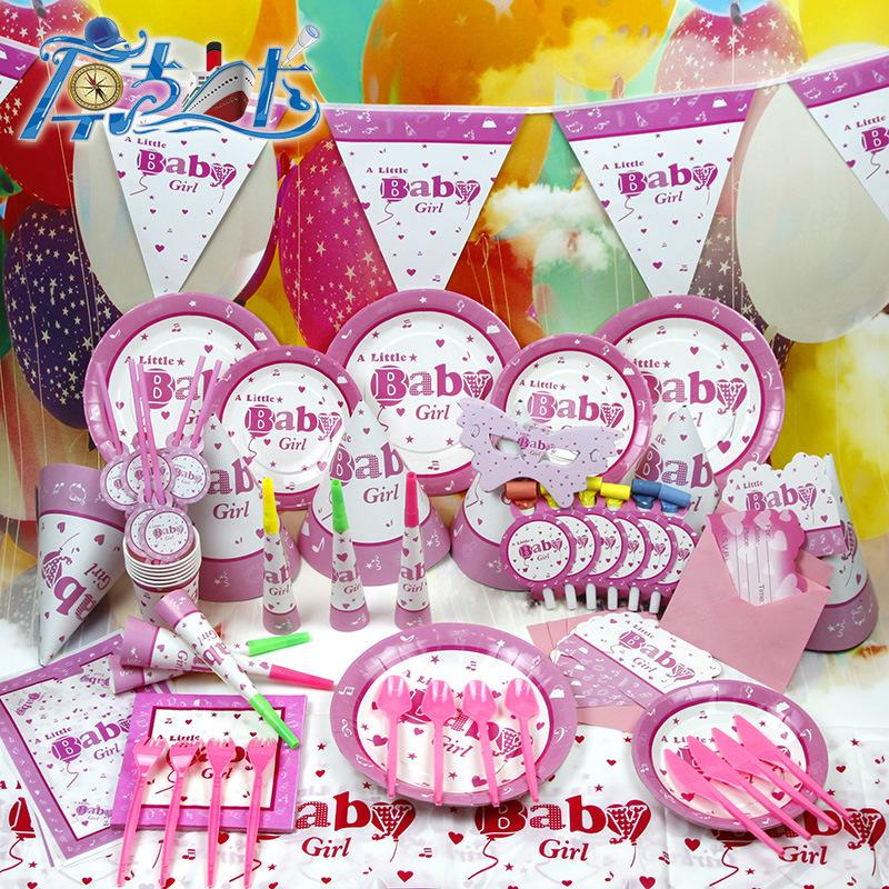 Baby girl 1st birthday decorations birthday party for Baby girl birthday decoration pictures