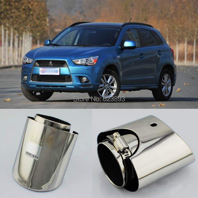 Free shipping,New Genuine Inlet T304 Stainless Steel Exhaust Muffler Tips For Mitsubishi ASX(China (Mainland))